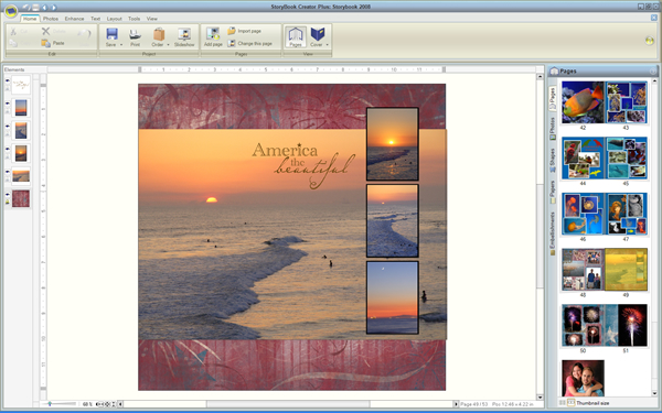 Storybook Plus Software Layout
