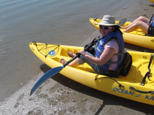 About to embark on my first kayak adventure. Can you see the fear?