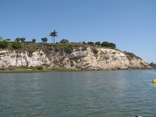 Cliffs surrounding Back Bay