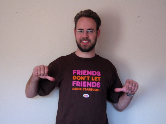 Who has two thumbs and likes Dunkin Donuts? This guy does!