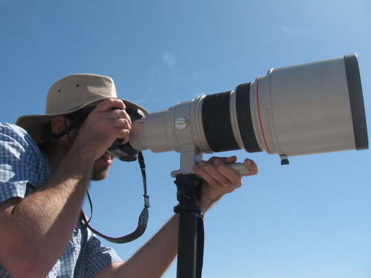 Bryan and the ginormous lens (400mm F2.8L)