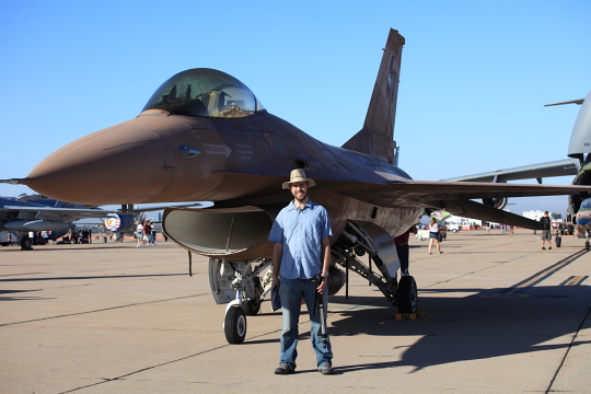 Bryan and an F16