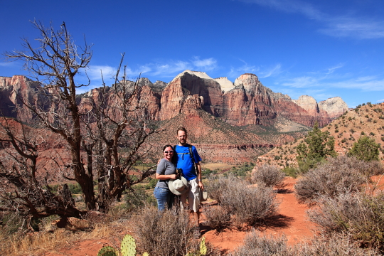 At the top of Watchman trail