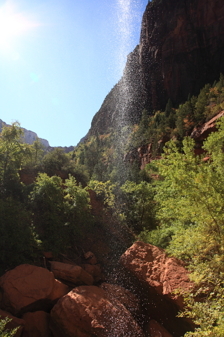 Waterfall from the Emerald Pools