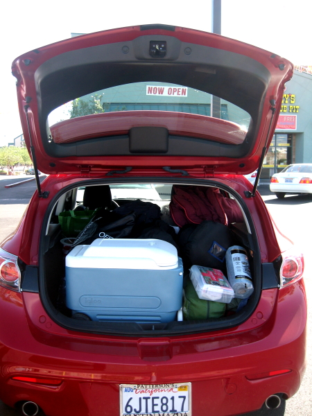 Our whole house in a hatchback