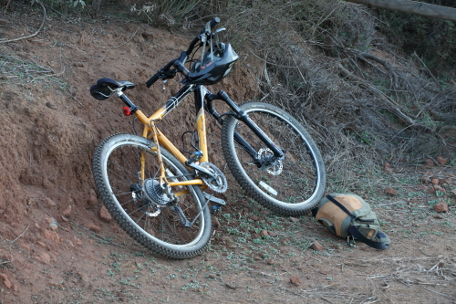 The trusty hardtail has held up well over the years.